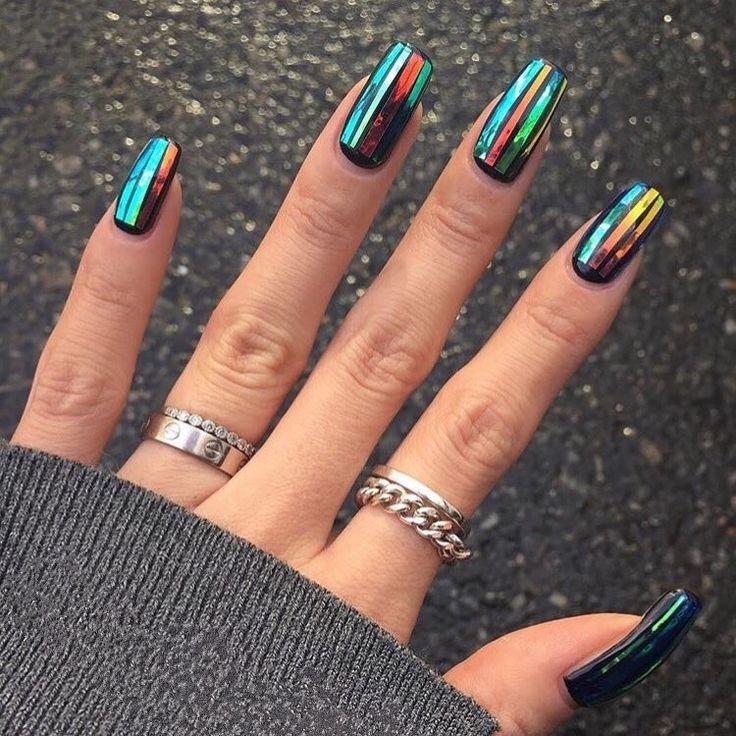 NAIL SLAY #Roogirl #reeceyroo #naotd #nailswag #bblogger #nailbar #londonnailbar #londonnails #beauty #nailsonfleek #onfleek #rkoi #swag #holographicnails #reeceyroos #instadaily #gelnails #nails2inspire #nailgoals #nailinspo