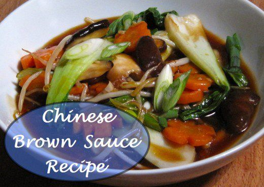 Chinese brown sauce is surprisingly easy to make with a few simply ingredients.  It adds a smooth salty flavor to stir-fry or otherwise plain dishes.