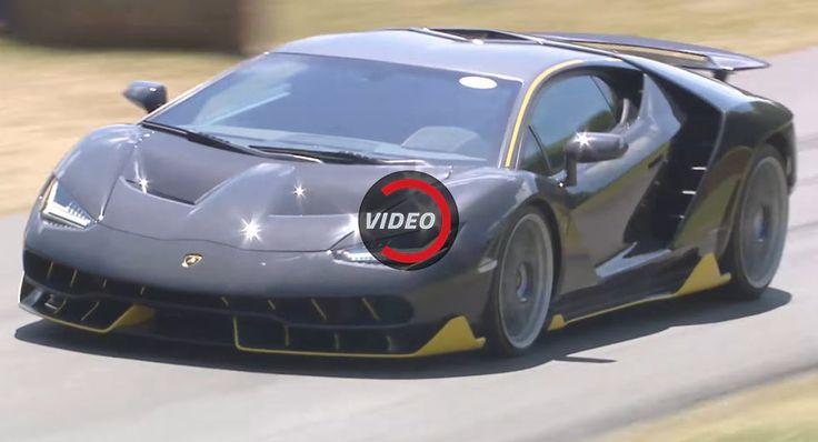 Lamborghini Centenario Let Loose In Between The Haystacks At Goodwood