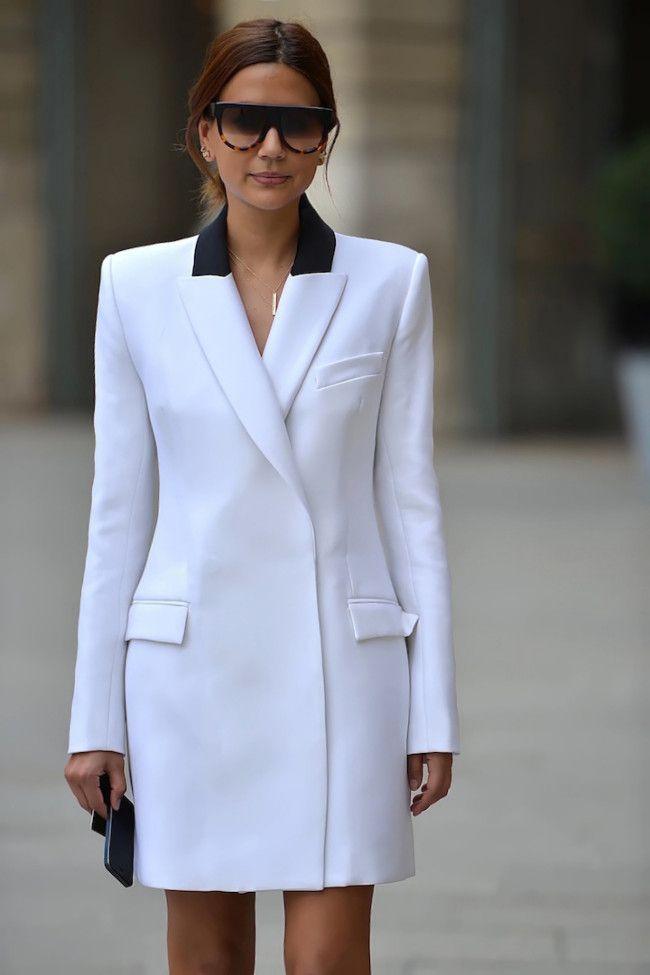 Christine Centenera. josh goot white tuxedo jacket.
