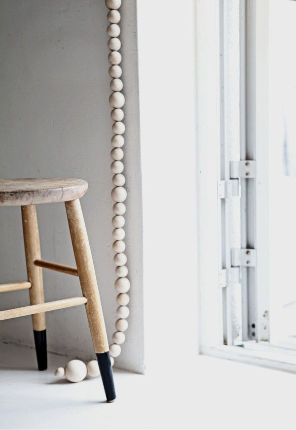 Via Emmas Designblogg | DIY Wooden Bead Blinds Cord