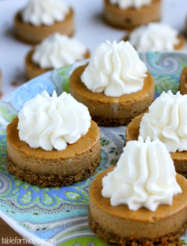 Pumpkin Cheesecake Bites » Table for Two