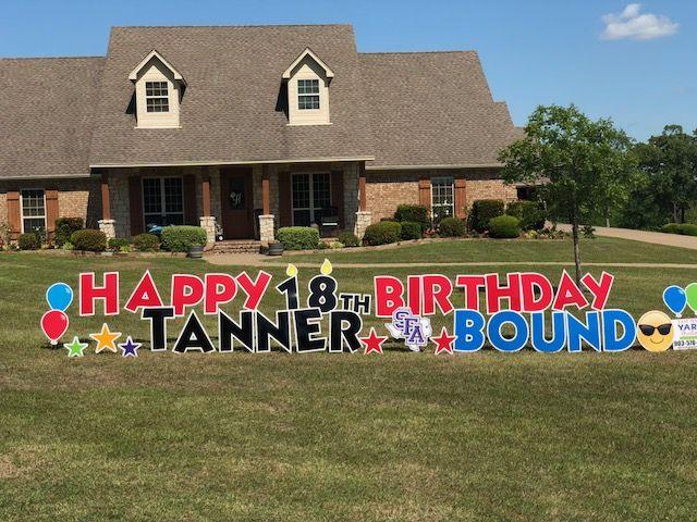 Pin By East Texas Yard Greetings On Boy Birthdays Happy Birthday Yard Signs Birthday Yard Signs Boy Birthday