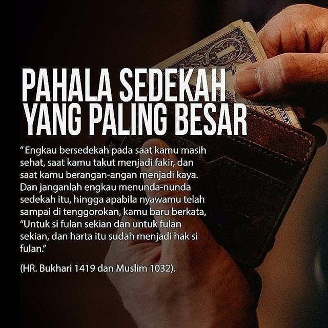 Jangan menunda-nunda sedekah. Kalo mau sedekah cuss lah sedekah aja . . . Follow @pesantrenyatim Follow @pesantrenyatim . . http://ift.tt/2f12zSN