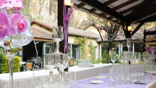 La Cascade Table d'un banquet http://www.lafourchette.com/restaurant/la-cascade/23871
