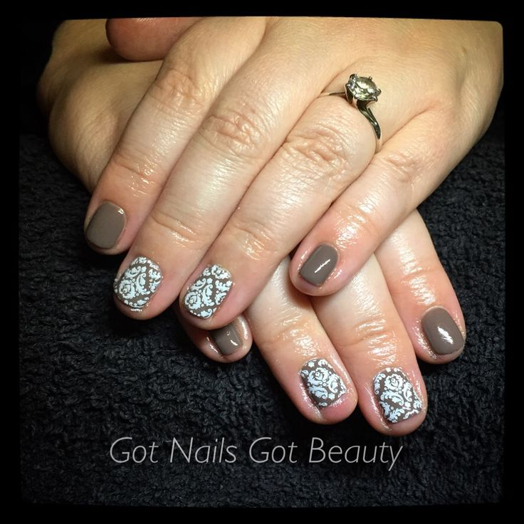 CND Shellac - Rubble with MoYou stamping
