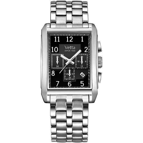 Cronografo Nero in Acciaio Uomo Analogico Wiler Vetta Toulouse VW0042