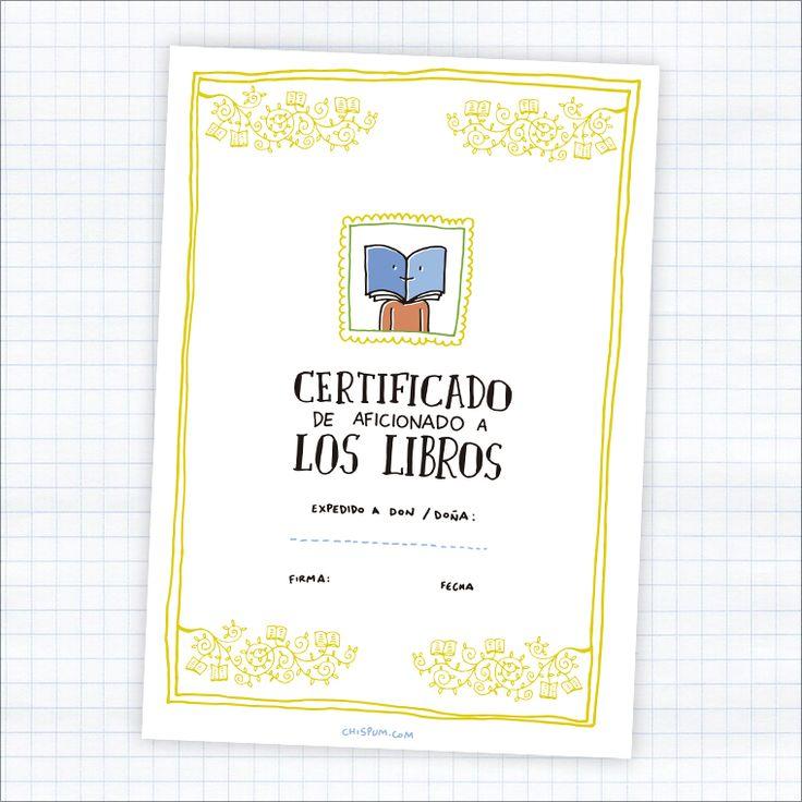 diploma-chispum-certificado-de-aficionado-a-los-libros