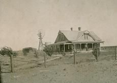 Brennarnd home with windmill, Seminole Texas. 1909