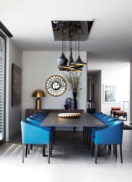 Toorak Penthouse Apartment - contemporary - dining room - melbourne - Christopher Elliott Design
