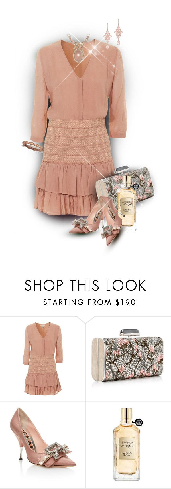 """""""Lovely Nude Pink Party Dress"""" by franceseattle ❤ liked on Polyvore featuring Paul & Joe Sister, Rochas, Viktor & Rolf, Anne Sisteron and Gucci"""
