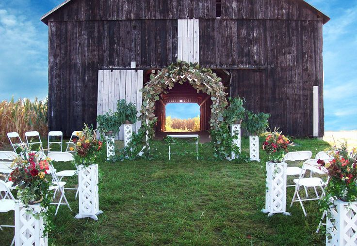 Outdoor Country Wedding Decorations