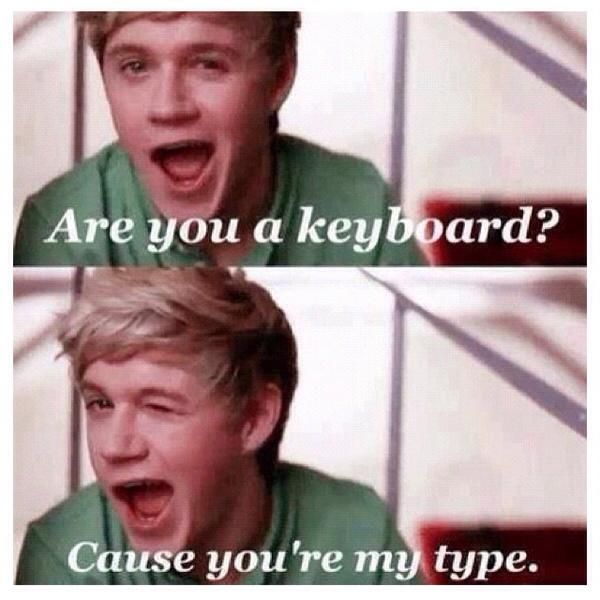 Pickup line + Niall Horan = worthy to repin
