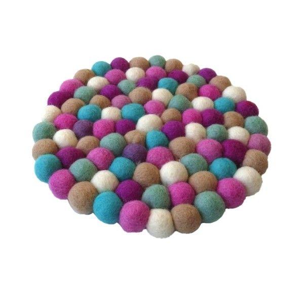 Sherbet felt ball trivets