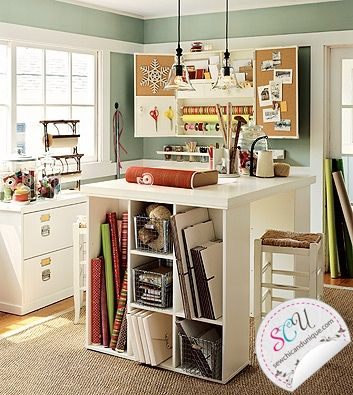 Craft Room - the more I think about it, the less I want it to share a space with my food room
