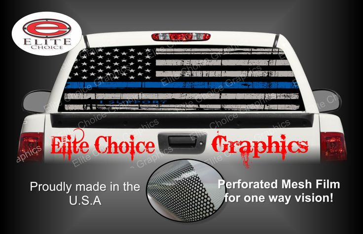 Thin Blue Line Police Flag Rear Window Graphic Tint Decal Sticker Truck SUV Van Car by EliteChoiceGraphix on Etsy https://www.etsy.com/listing/265103726/thin-blue-line-police-flag-rear-window