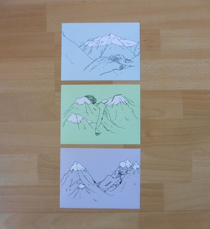 Mountain Drawings PRINT SET by StPam on Etsy https://www.etsy.com/listing/499461137/mountain-drawings-print-set