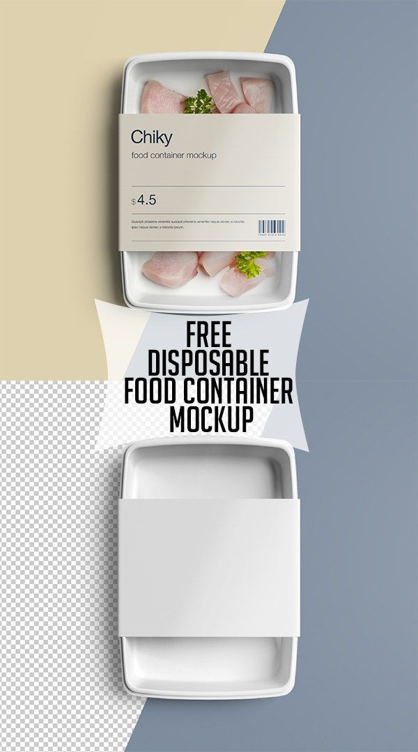 Free Disposable Food Container Mockup