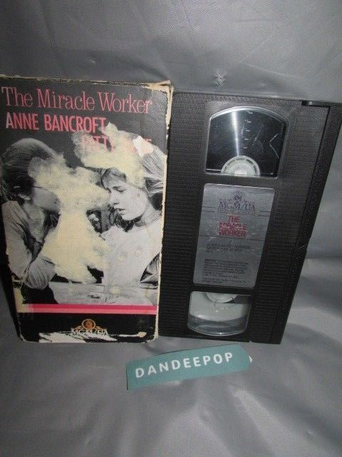 The Miracle Worker Anne Bancroft VHS Movie 1987 #themiracleworker #annebancroft #vhs #movie #video #dandeepop Find me at dandeepop.com