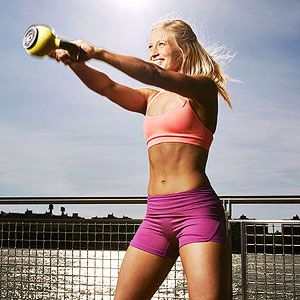 Grab a kettlebell and bust out this 19-minute HIT routine. You'll burn 10 calories a minute!