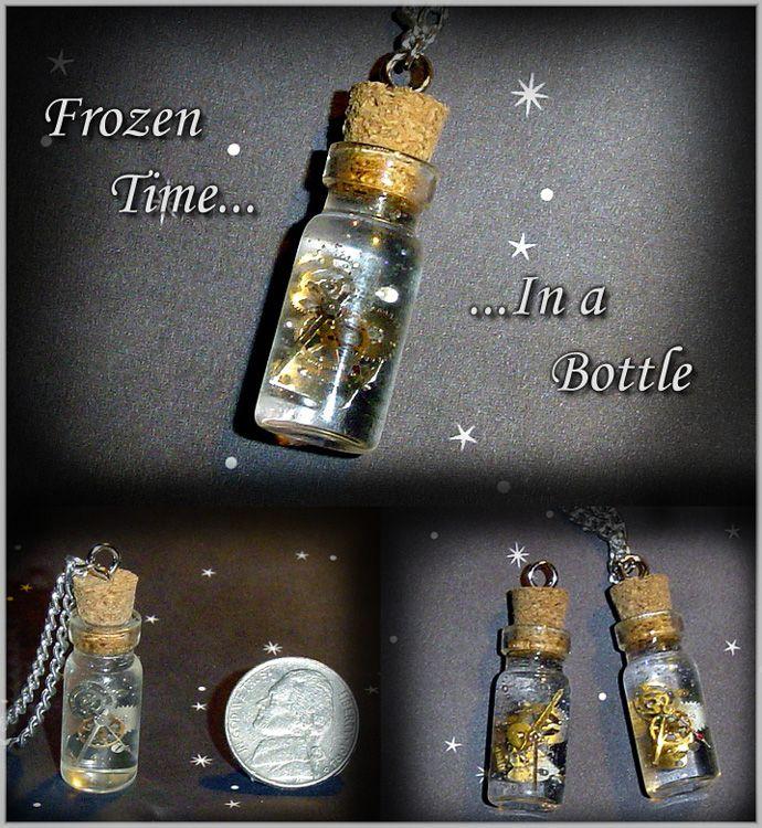 Frozen Time in a Bottle Charms by YellerCrakka.deviantart.com on @deviantART