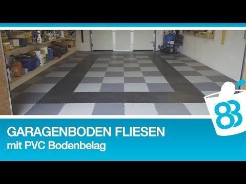 Garagenboden Fliesen mit PVC Bodenbelag von Fortelock - Garagenboden im Schachbrett Muster - YouTube