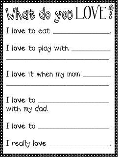 Made for 1st Grade: Love List