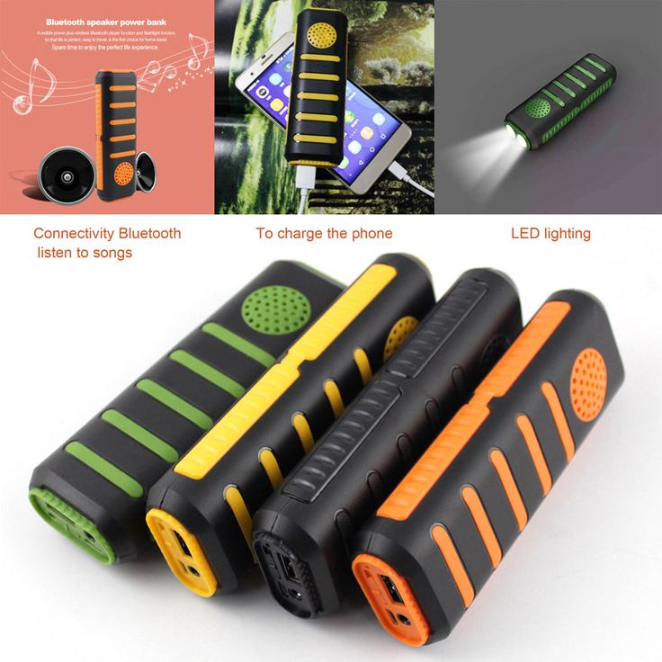Portable 3 in 1 Bluetooth Bycicle Speaker with Power bank 5600 mAh & Dual LED Flashlight Camping Torch speaker for Mobile phones