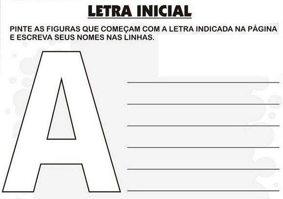 50 Atividades Com Letra Inicial Para Imprimir Educacao Infantil