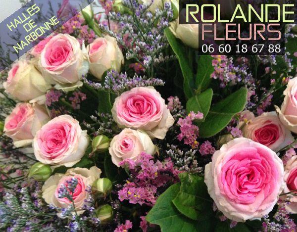À l'étal de fleurs de Rolande dans les halles de Narbonne, comme une petite boutique campagnarde, un étal chic et champêtre en plein cœur des halles de Narbonne en centre-ville de Narbonne, votre fleuriste vous propose des fleurs de pays, des saisons, à vous de vous laisser guider pour le choix des teintes, des assemblages floraux qui feront le bonheur de la personne de votre choix.