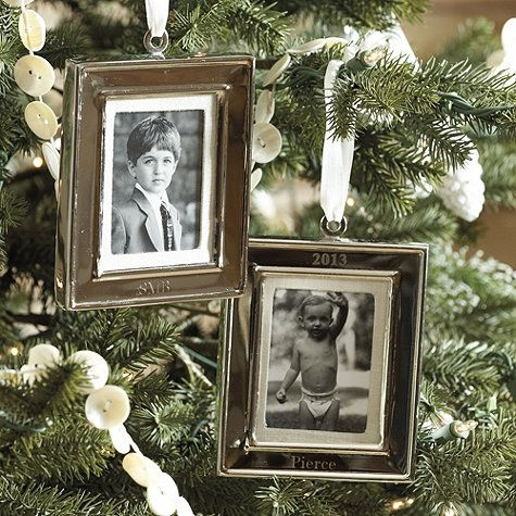"A gift they'll cherish season after season. Our Frame 2013 Ornament holds a 2 x 3 photo and comes engraved with the year ""2013,"" so it will become an instant family heirloom.: 2013 Frames, Frames Ornaments, Gifts Ideas, Frames Photo, Photo Ornaments, Holidays Decor, Frames 2013, 2013 Ornaments, Ballard Design"