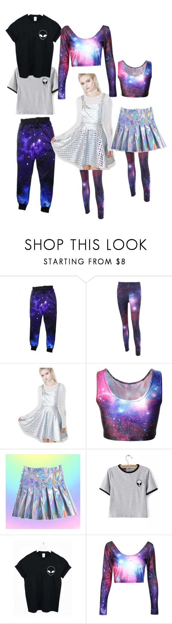 """Intergalactic"" by rain4583 ❤ liked on Polyvore featuring WithChic, Current Mood, galaxy, Leggings and Alien"