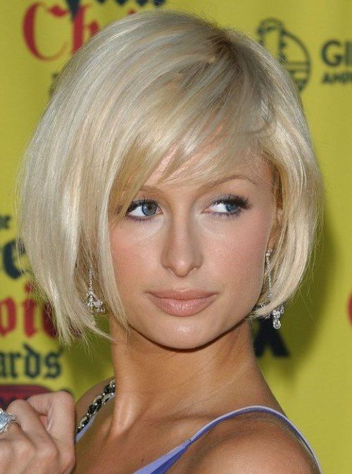 Paris Hilton Cute Short Bob Haircuts 2017
