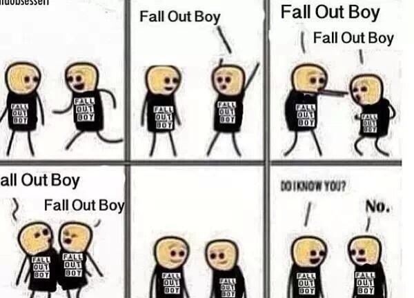 Great Way To Make Friends Lemme Tell Ya. #falloutboy #rocknroll #funny