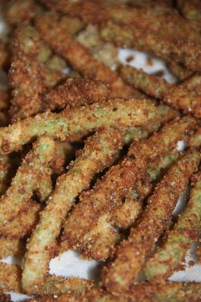 Green Bean fries. I've never had these, but I can't wait till I can try them. They sound sooo delicious!!