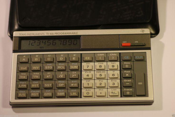 Vintage 1982 Texas TI 66 Programable LCD BASIC pocket computer calculator in Informática y tablets, Informática vintage, Ordenadores vintage | eBay