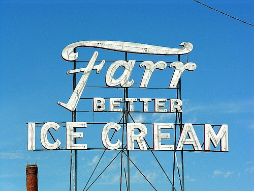 "Farr Better Ice Cream - Pocatello Idaho. Who knew there was Farr better ice cream in Pocatello! Almost like ""Elf's, Worlds Best Cup of Coffee"" LOL"