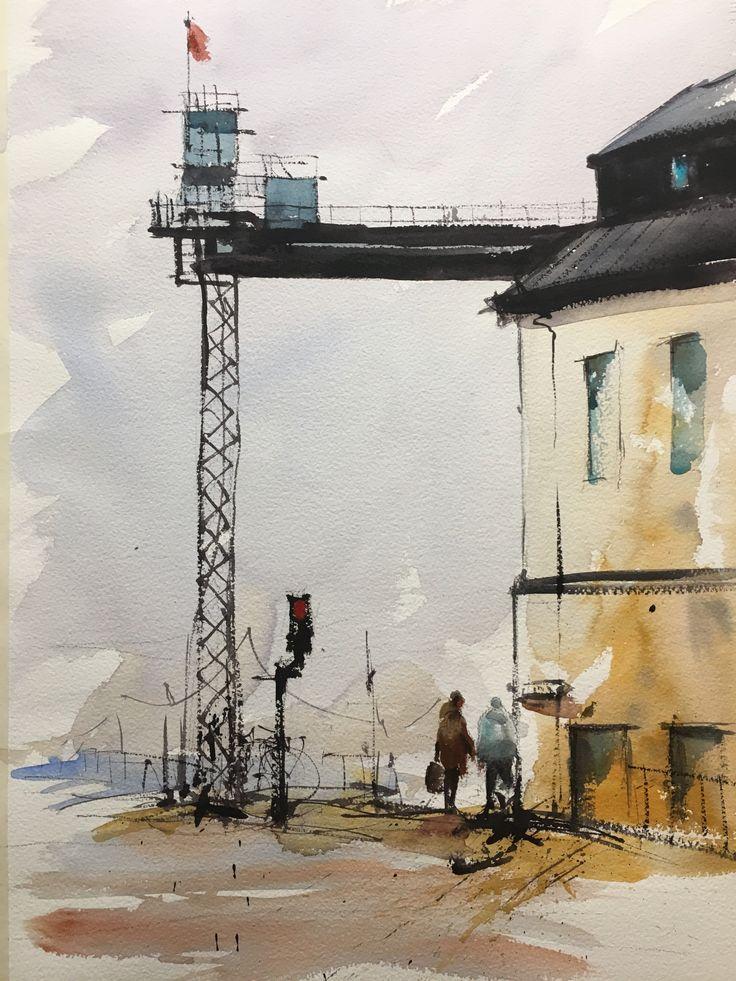 Watercolor Stefan Gadnell, Katarinahissen