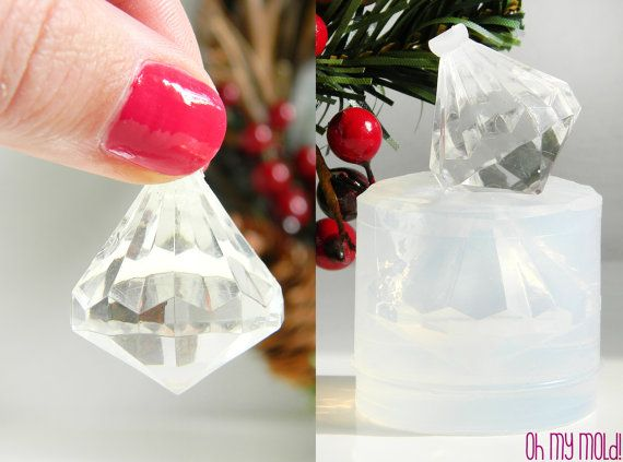 Clear Mold for Diamond 3D Pendant Mold for resin by OHMYMOLD, €13.45