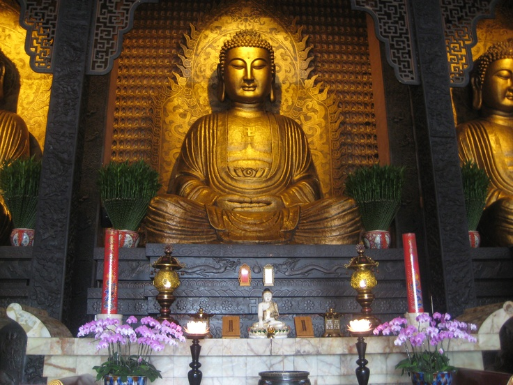 Inside the Buddhist monastery. Photo by CD