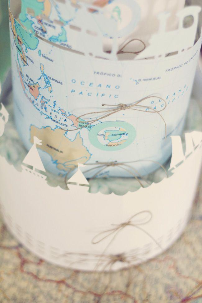 Con botas de agua Tarta de pañales El sombrero de papel Diaper cakes El sombrero de papelTarta_Pañales7