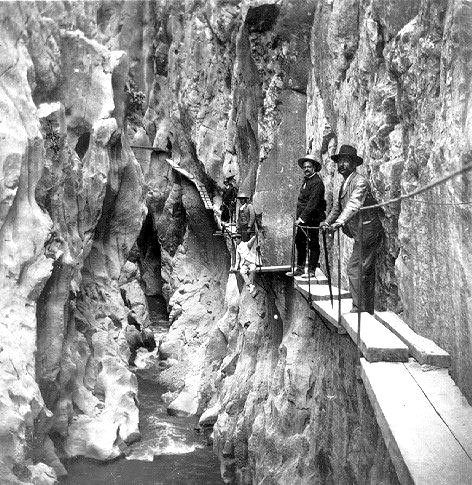 """""""""""El Caminito Del Rey"""""""",Málaga, Spain,was """"built""""between 1901/1905.The King Alphonse XIII went there for the inauguration.Now is forbbiden to walk on it."""