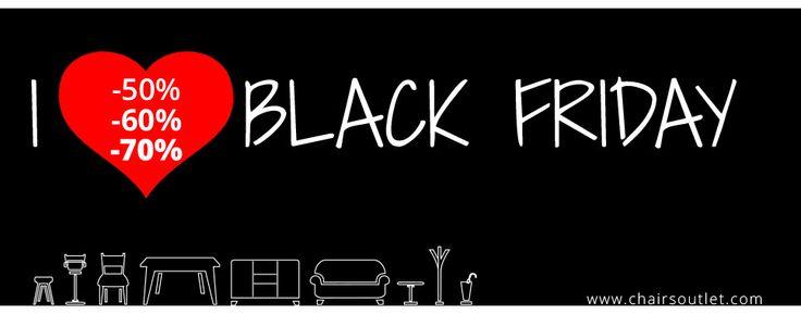 I LOVE #BLACKFRIDAY! Non perderti le #Super #Offerte di #Chairsoutlet su #sedie, #sgabelli e #tavoli con #sconti da -50%, -60%, -70%! Clicca sul link http://goo.gl/XHMIpu e aggiungi al carrello tutti i prodotti che desideri acquistare, lo sconto è già applicato. Buoni #acquisti dallo staff di Chairsoutlet :-)