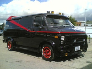 """A-Team"" Van. Benidorm, Spain, España #GMC #GeneralMotors #Trucks"
