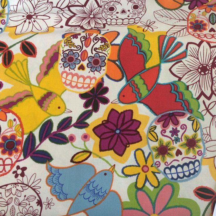 Calaveras Alegres (Sugar Skull Halloween) - 7810BR - Frida La Catrina Collection - Alexander Henry - 1/2 yard