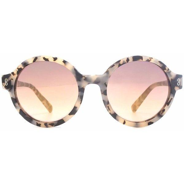 Hook LDN - Pavilion Milk Tortoiseshell Sunglasses (162 AUD) ❤ liked on Polyvore featuring accessories, eyewear, sunglasses, round tortoiseshell sunglasses, rounded sunglasses, tortoise glasses, retro style sunglasses and tortoiseshell sunglasses