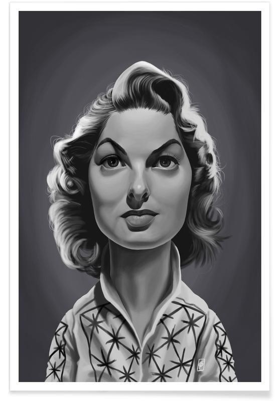 Ingrid Bergman as Premium Poster by Rob Snow | Creative | JUNIQE art | decor | wall art | inspiration | caricature | home decor | idea | humor | gifts