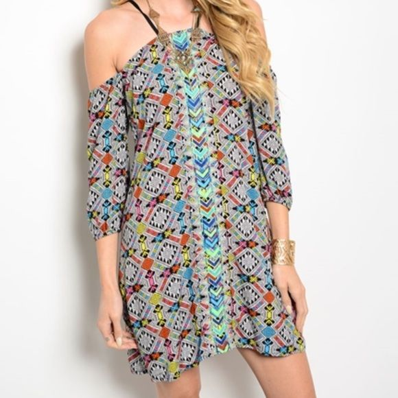The Aztec Party Dress M and L Coming to our closet soon! If you want one please comment below with your size. These will go fast! Great summer dress! 💙💚💛💜❤️ Dresses