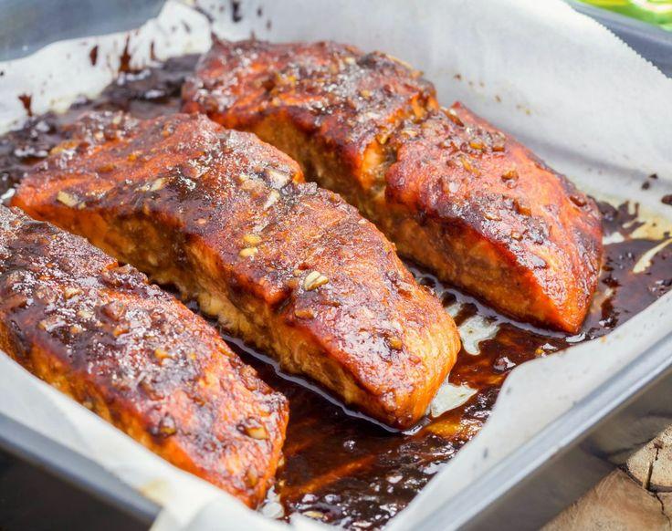 Somon glazurat în sos dulce acrișor | Retete culinare - Romanesti si din Bucataria internationala