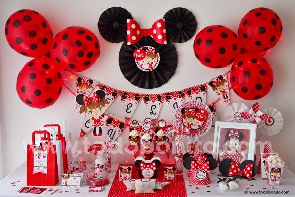 Kit imprimible Orejas Minnie rojo por Todo Bonito <3